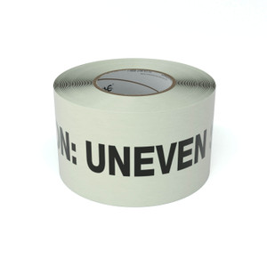 SafetyTac® Glow Caution: Uneven Surface - Inline Printed Floor Marking Tape