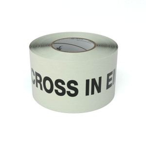 SafetyTac® Glow Do Not Cross In Emergency - Inline Printed Floor Marking Tape