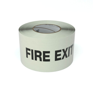SafetyTac® Glow Fire Exit - Inline Printed Floor Marking Tape