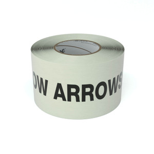 SafetyTac® Glow Follow Arrows To Safety With Arrows - Inline Printed Floor Marking Tape