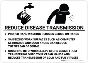 Reduce Disease Transmission - Wall Sign