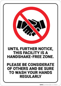 Handshake-Free Zone - Wall Sign
