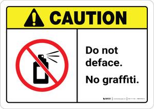 Caution: Do Not Deface - No Graffiti ANSI Landscape