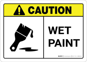Caution: Wet Paint ANSI Landscape
