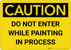 Caution: Do Not Enter While Painting In Process Landscape