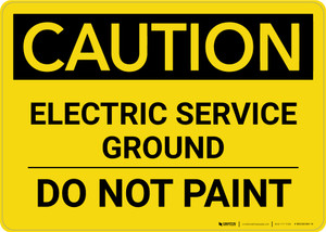 Caution: Electric Service Ground - Do Not Paint Landscape