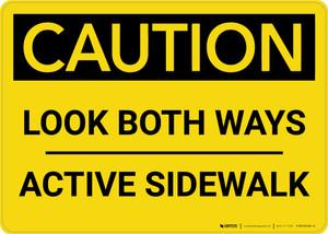 Caution: Look Both Ways - Active Sidewalk Landscape