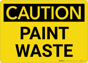 Caution: Paint Waste Landscape