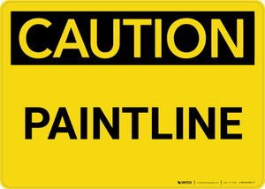 Caution: Paintline Landscape