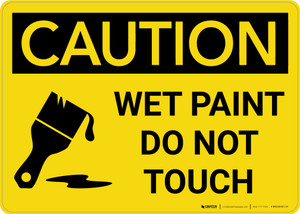 Caution: Wet Paint - Do Not Touch with Icon Landscape