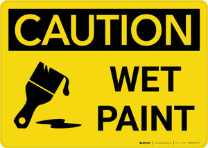 Caution: Wet Paint with Icon Landscape