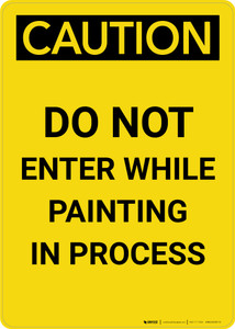 Caution: Do Not Enter While Painting In Process Portrait