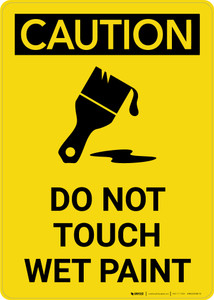 Caution: Do Not Touch Wet Paint with Icon Portrait