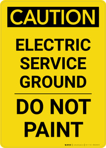 Caution: Electric Service Ground Do Not Paint Portrait