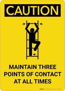 Caution: Maintain Three Points Of Contact At All Times Portrait