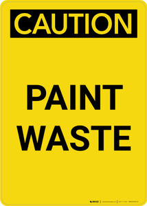 Caution: Paint Waste Portrait