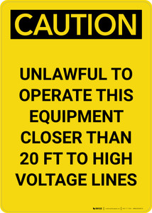 Caution: Utility Line - Before Digging Call Collect or Notify Portrait