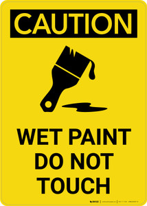 Caution: Wet Paint Do Not Touch Icon Portrait