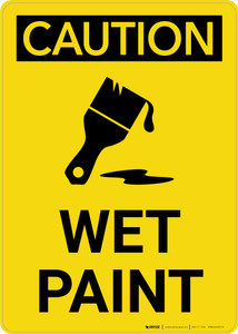 Caution: Wet Paint with Icon Portrait