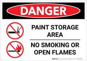 Danger: Paint Storage Area - No Smoking Or Open Flames Landscape