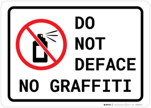 Do Not Deface - No Graffiti Landscape