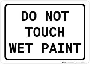 Do Not Touch Wet Paint Landscape
