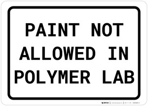 Paint Not Allowed In Polymer Lab Landscape