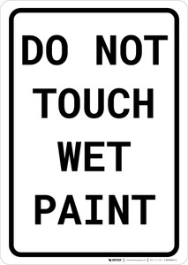 Do Not Touch Wet Paint Portrait
