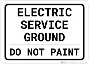 Electric Service Ground - Do Not Paint Landscape