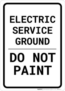 Electric Service Ground - Do Not Paint Portrait