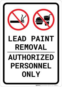 Lead Paint Removal - Authorized Personnel Only Portrait