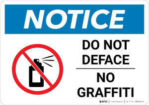 Notice: Do Not Deface - No Graffiti Landscape