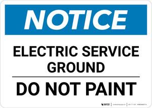 Notice: Electric Service Ground - Do Not Paint Landscape