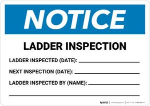 Notice: Ladder Inspection Landscape