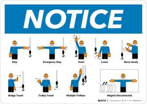Notice: Overhead Crane Hand Signals Landscape