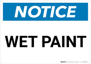 Notice: Wet Paint Landscape