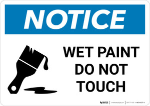 Notice: Wet Paint Do Not Touch with Icon Landscape
