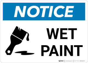 Notice: Wet Paint with Icon Landscape