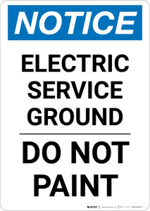 Notice: Electric Service Ground - Do Not Paint Portrait