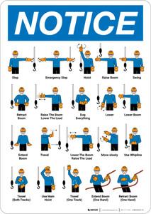 Notice: Mobile Crane Hand Signals Portrait