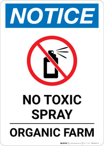 Notice: No Toxic Spray - Organic Farm Portrait