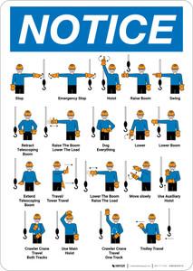 Notice: Standard Crane Hand Signals Portrait