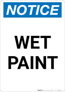 Notice: Wet Paint Portrait