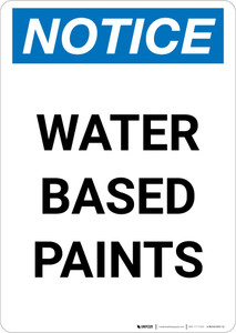 Notice: Water Based Paints Portrait