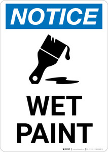 Notice: Wet Paint with Icon Portrait
