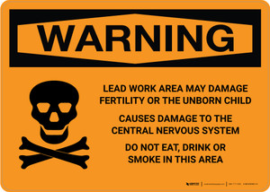 Warning: Lead Work Area May Damage Fertility and Nervous System Landscape