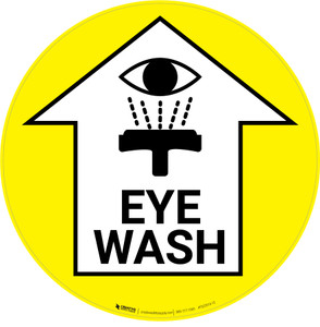 Eye Wash with Arrow Icon - Floor Sign