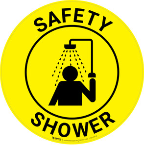 Safety Shower with Icon - Floor Sign