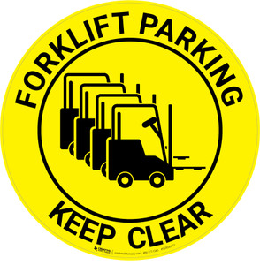 Forklift Parking - Keep Clear - Floor Sign