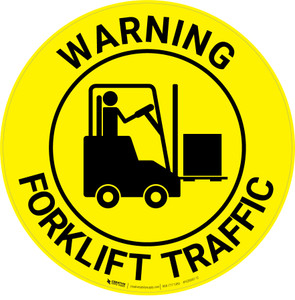 Warning: Forklift Traffic - Floor Sign